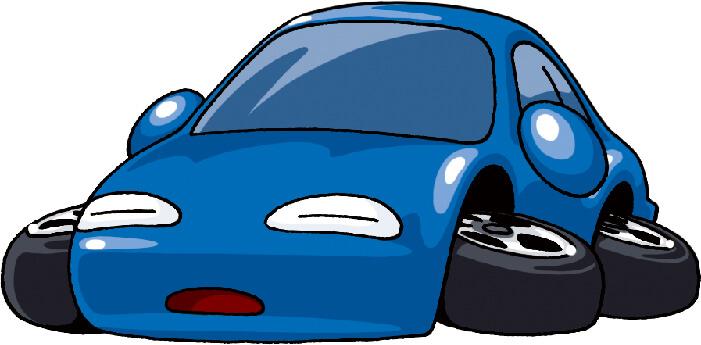 バッテリーあがりで動かない車