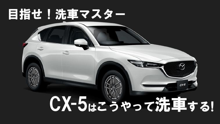 CX-5の洗車手順!これであなたも洗車マスター!