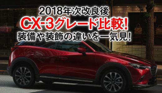 マツダ【CX-3】グレード比較!装備や装飾の細かな違いを一気見!