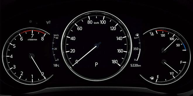 CX-8Lパッケージ 7インチマルチスピードメーター